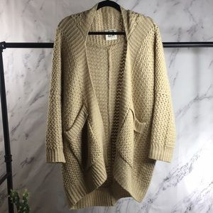 PPLA oversized cocoon chunky knit cardigan Small